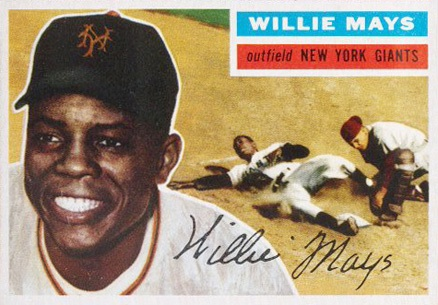 1956 Willie Mays baseball card