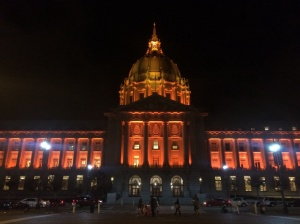 San Francisco City Hall wears Orange October well.