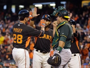 GIANTS take 2 out of 3 in their last ST games against the A's