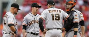 The pitcher's mound in Cincinnati gave Lincecum some trouble