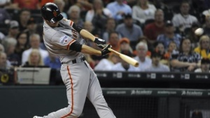 Matt Duffy led the GIANTS Tuesday night with a career-high 5 RBIs.