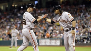 Buster tallied up 3 RBIs Wednesday night.