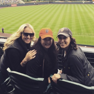 Three of my favorite Gamer Babes--Suzanne, Liz and Anne-Marie--take in the game during their Denver Girl's Weekend