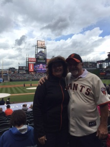 Kandy made it to the game, she said Coors Field is beautiful.  Looks can be deceiving--it turned ugly for the Giants